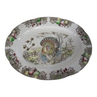 Vintage Tansfer-Ware Turkey Serving Platter