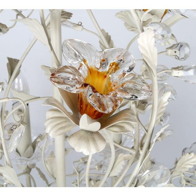 White Metal & Crystal Italian Chandelier - Image 9 of 11