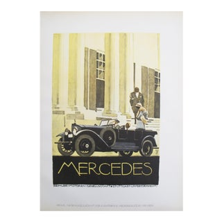 1926 German Poster, Mercedes Car with Chauffeur