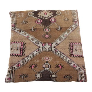 Vintage Turkish Floor Rug Pillow & Dog Bed 36'' x 36''