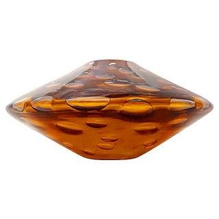 Salviati Mille Bolle Amber Vase