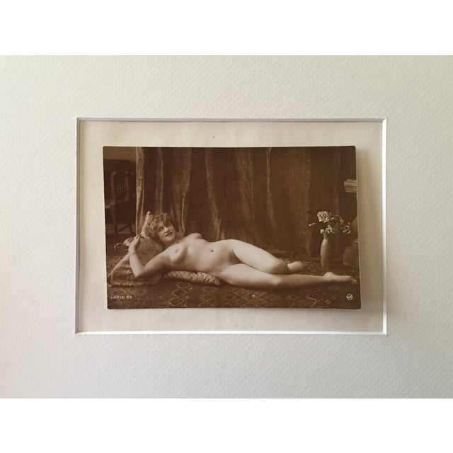 Antique French Art Deco Nude Photograph - Image 2 of 3