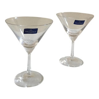 Villeroy & Boch Octavie Martini Crystal Glasses - A Pair