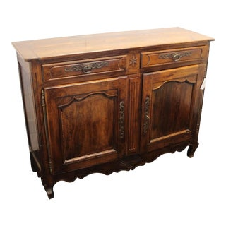 French Louis XV Style Walnut Buffet