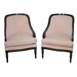 Regency-Style Bergere Lounge Chairs - A Pair