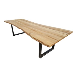 Live Edge Siberian Ash Wood Plank Table