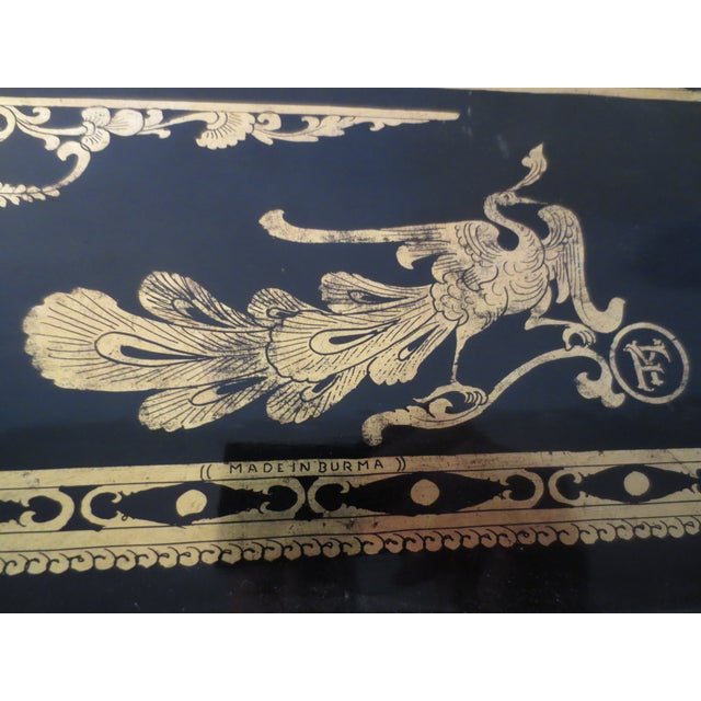 Antique English Black Lacquer Tray - Image 4 of 7