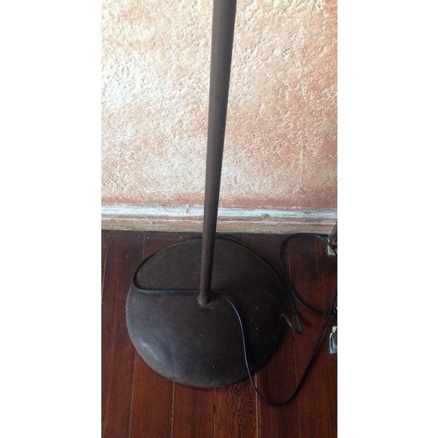Image of Distressed Goat Skin Lamp Shade Floor Lamp