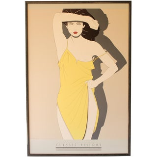 Yellow Dress Print by Patrick Nagel