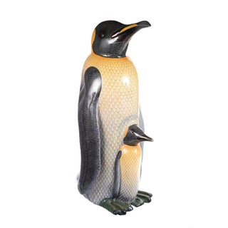 Mama Penguin & Her Baby- Sculpture by Sergio Bustamante