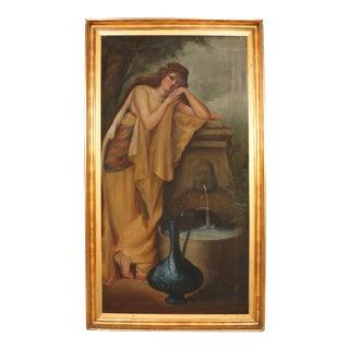 Art Deco Oil Portrait of a Woman