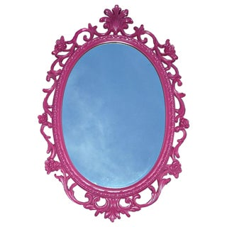 Mid-Century Hollywood Regency Pink French Mirror