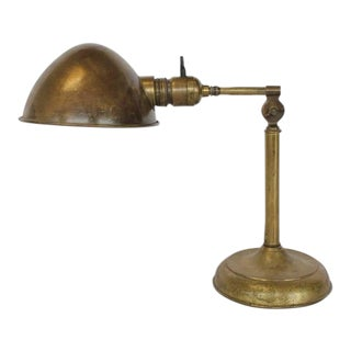 Antique Library Desk Brass Lamp