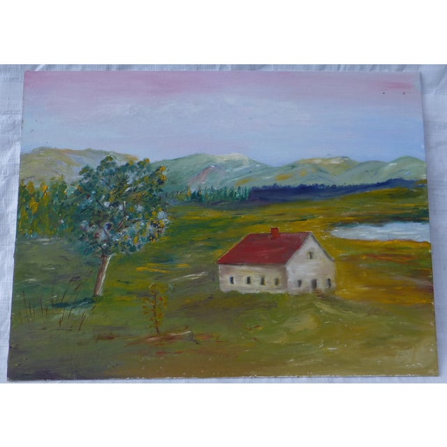 Image of MCM Painting Rural Scene by H.L. Musgrave