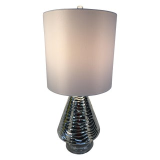 Silver Wavy Glass Lamp
