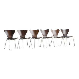 Set of Series 7 Arne Jacobsen Dining Chairs