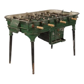 Vintage Cast Metal Foosball Table