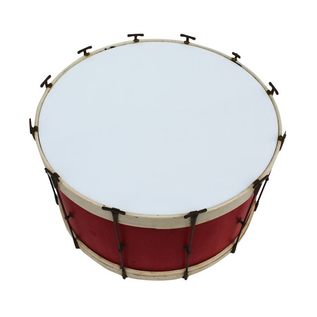 Round Drum Table On Casters Chairish