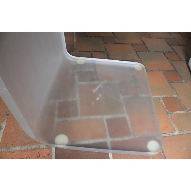 Image of Vintage Lucite Frosted -Z- Form Side Chair