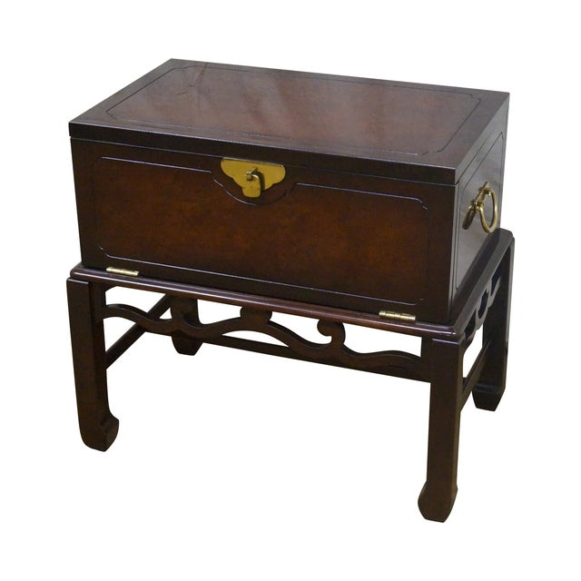 Asian Style Chest on Frame End Table - Image 1 of 10