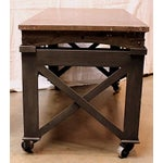 Image of Vintage Industrial Rolling Coffee Table