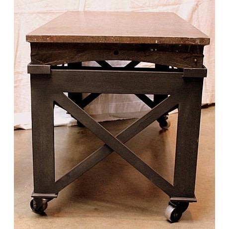 vintage industrial rolling coffee table chairish. Black Bedroom Furniture Sets. Home Design Ideas