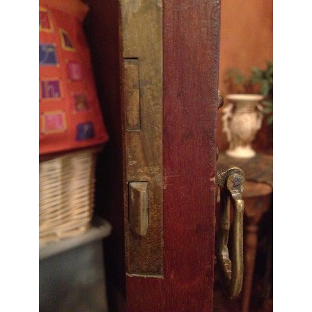 Image of Antique Armoire Carved Mahogany & Original Mirror