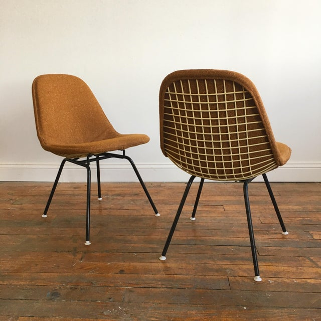 Herman Miller Eames Wire Chairs With Alexander Girard Covers - A Pair - Image 3 of 10