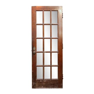 Antique Victorian Fifteen Lite Birch Door