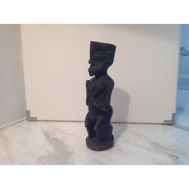 Rustic Carved Wood Figure - Image 2 of 8