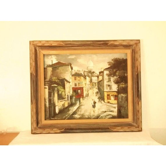 Hyung Chan Vintage Oil Painting of Paris - Image 2 of 6