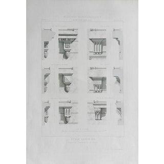 1869 Antique Print, 'Architecture 6'