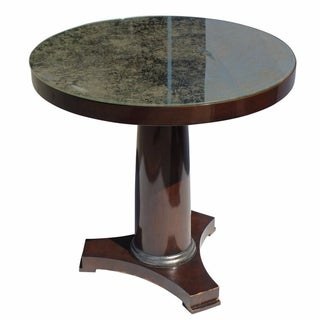 Bristol Antiqued Mirror Top Side Table