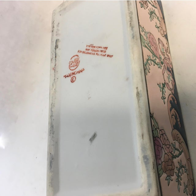 Chinese Hand-Painted Porcelain Lotus Box - Image 4 of 5