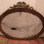 Image of Antique Gold Gilt French Style Mirror Oval Huge