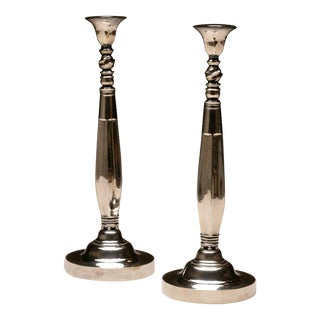 Georg Jensen Candlesticks, No. 441 by Johan Rohde
