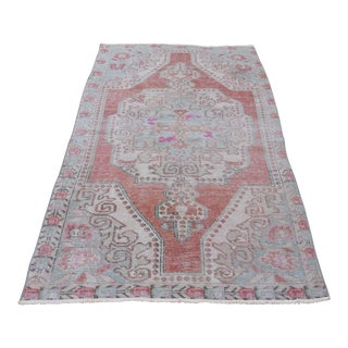 "Turkish Anatolian Oushak Rug Vintage Tribal Hand Knotted Oriental Rug - 6'8"" X 3'8"""