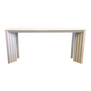 Lane Geometric Wood Console