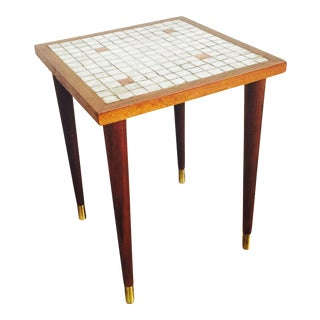 Mid Century Mosaic Side Table or Plant Stand