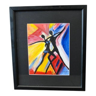 Colorful Abstract Oil Painting Dancers