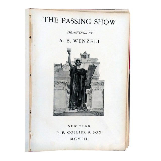 """""""The Passing Show"""" Drawings by Ab Wenzell Book - Image 3 of 9"""