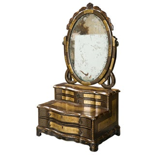 19th C. Oriental Vanity Table Mirror