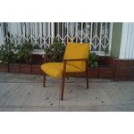 Image of Mid-Century Walnut Arm Chairs - Pair