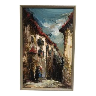 European Village Scene Painting