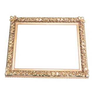 Antique Wood Gesso Gold Picture Frame