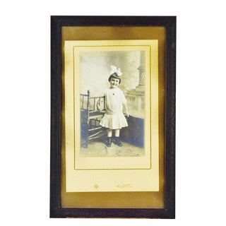 Vintage Framed Photograph of Young Girl