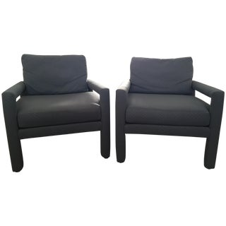 Milo Baughman Style Drexel Club Chairs - A Pair