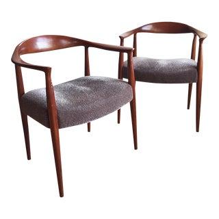 1970s Hans Wegner Kennedy Round Chairs - A Pair