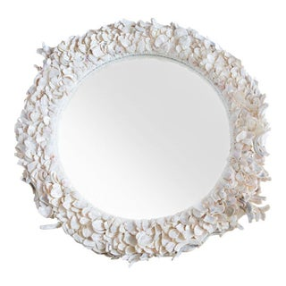 Large Round Sea Shell Mirror