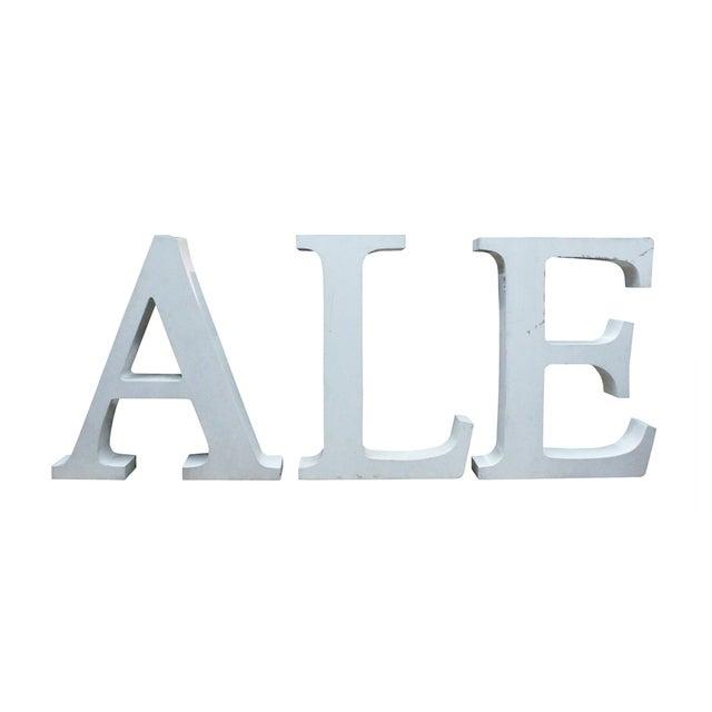 Vintage Ale Sign Letters - Image 1 of 3